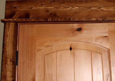 Bedroom Door Rustic Wood Trim Corners