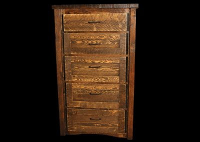 Circle-Sawn Rustic Chest of Drawers