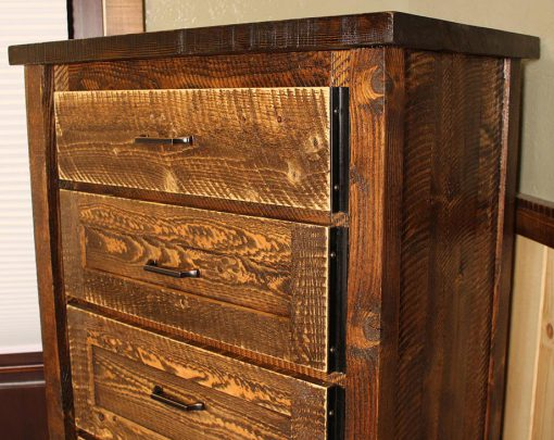 Rustic Circle-Sawn Chest of Drawers