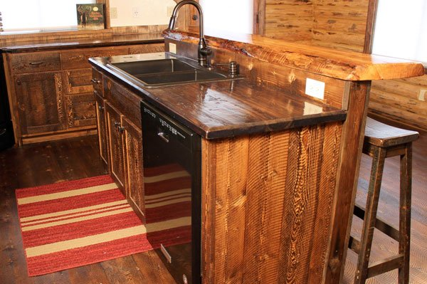 Custom Rustic Bars and Kitchen Islands