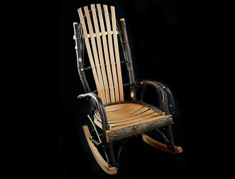 Hickory Rocker with Cherry Slats