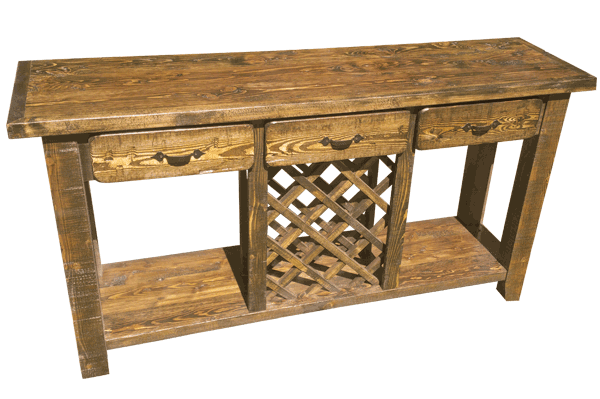 ProRustics Custom Rustic Sofa Table