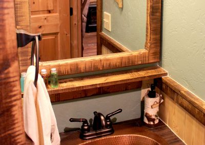 Rustic Bathroom Sink and Mirror Trim