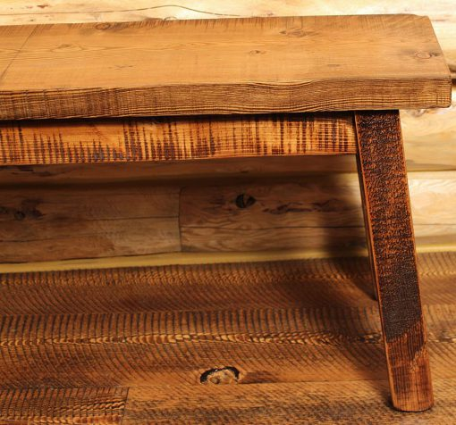 Rustic Entry Bench Front Corners