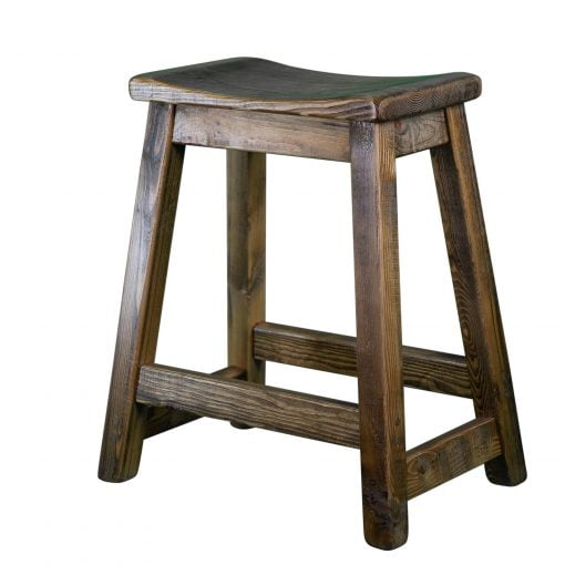 Rustic Saddle Seat Bar Stool 2