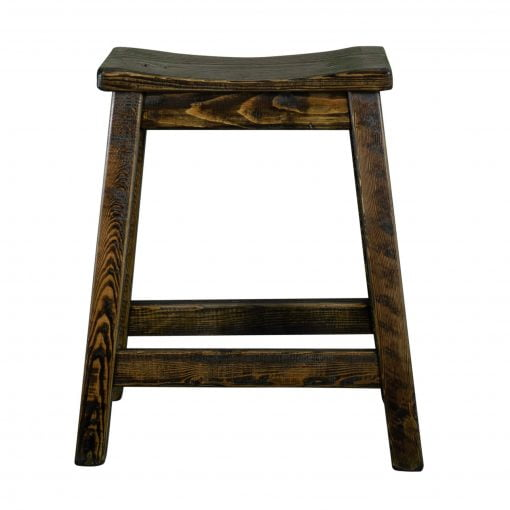 Rustic Saddle Seat Bar Stool