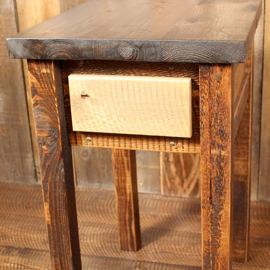 Farmhouse Collection: Square Beam Rustic End Table