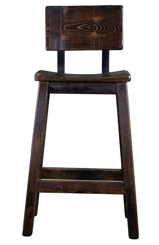Rustic Bar Stool With Back 2