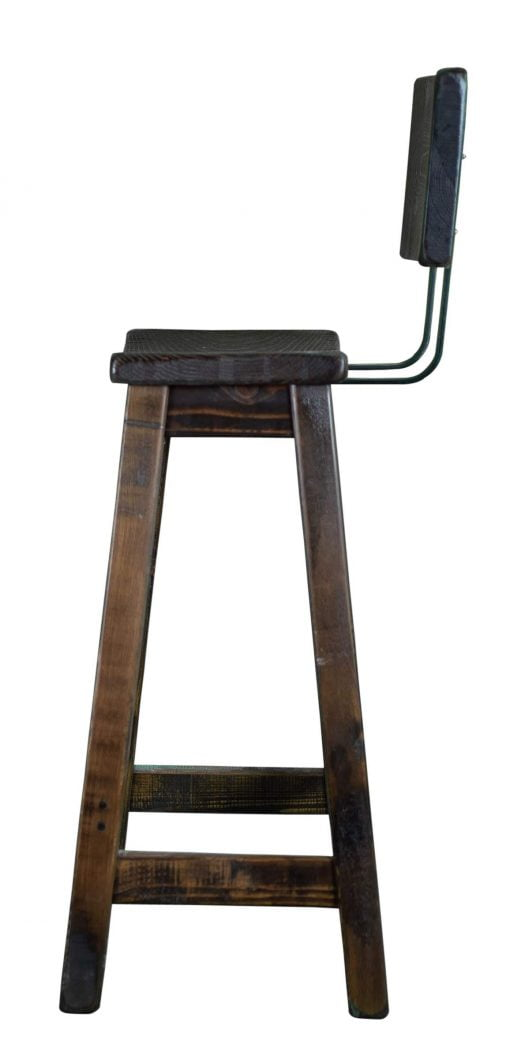 Rustic Bar Stool With Back 3