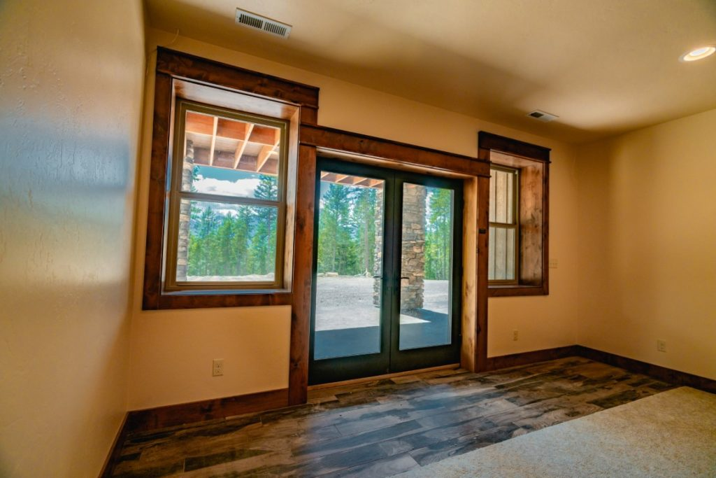 Custom window bank with deep sills